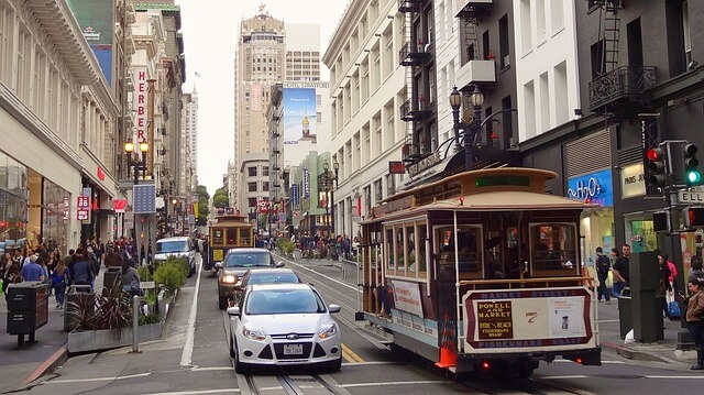 visite de San Francisco en cable cab