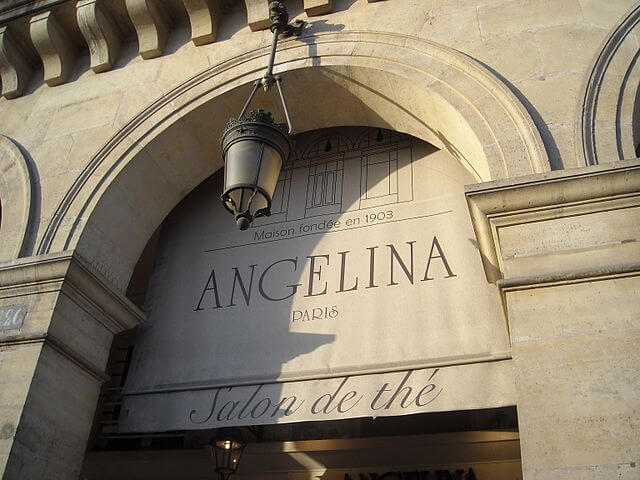 Angelina salon de thé à Paris