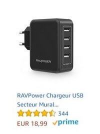 chargeur usb voyage