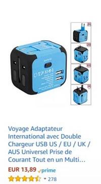 voyage adaptateur international