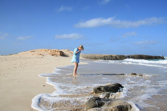 Plage paradisiaque au Cap-Vert