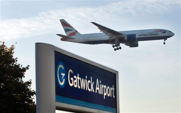 Grand aéroport Gatwick en Europe