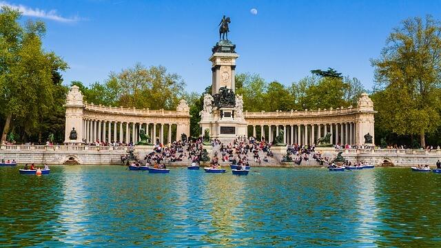 Parque Retiro à Madrid