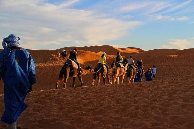 randonnée chamelière desert Maroc